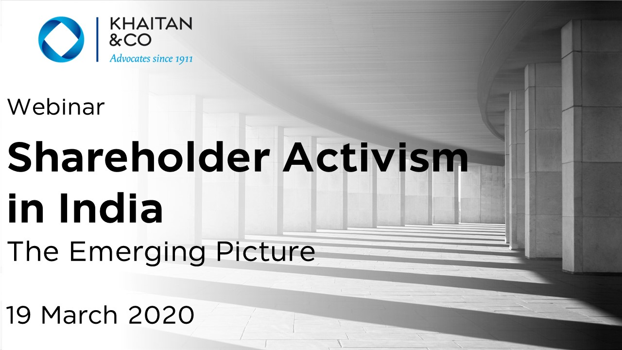 Shareholder Activism in India - The Emerging Picture